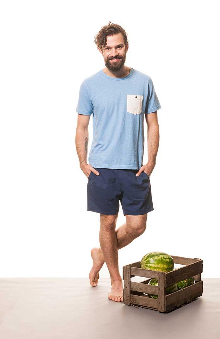leichtes t shirt mit brusttasche 21111. Black Bedroom Furniture Sets. Home Design Ideas