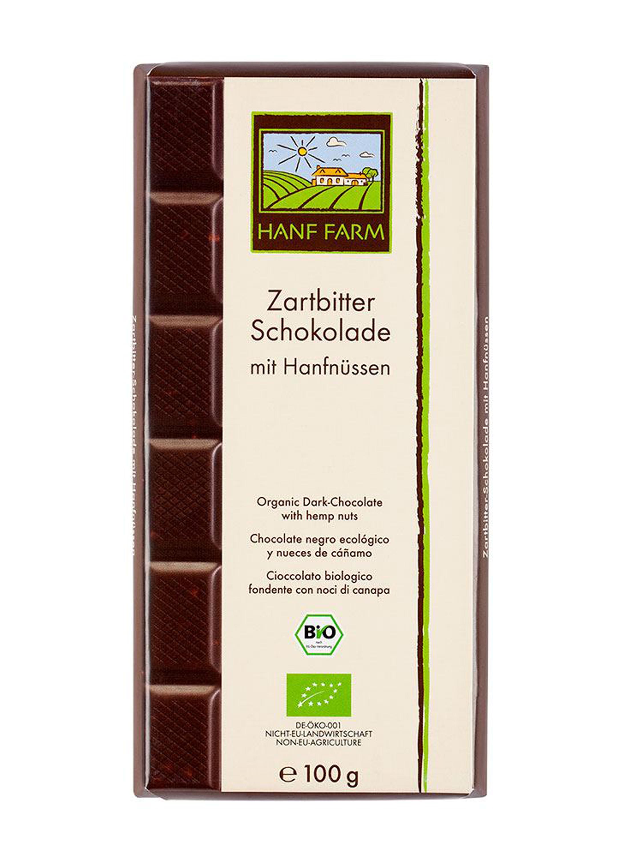 Organic Hemp Seed Dark Chocolate 100 g