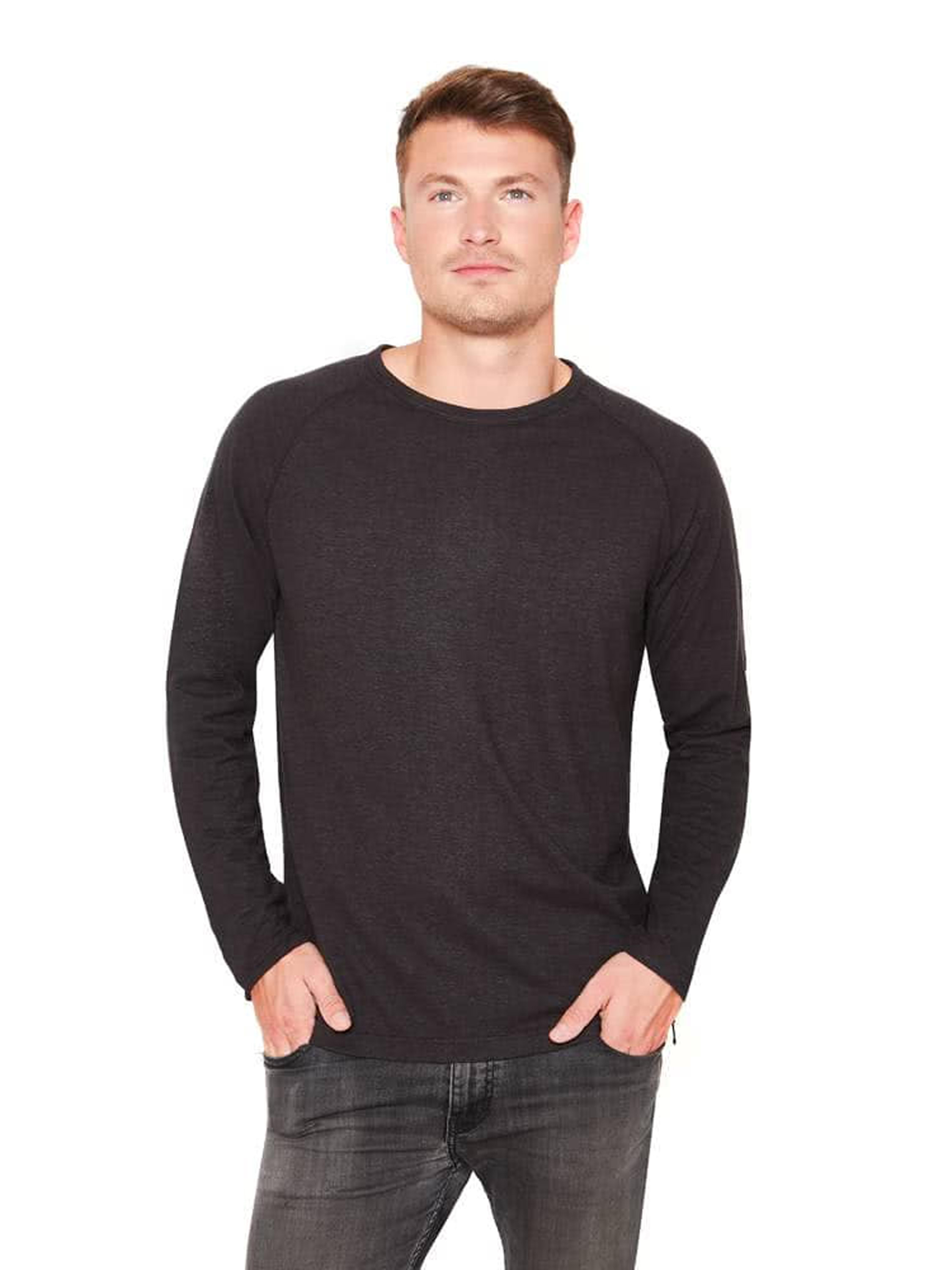 Basic Raglan long-sleeve shirt