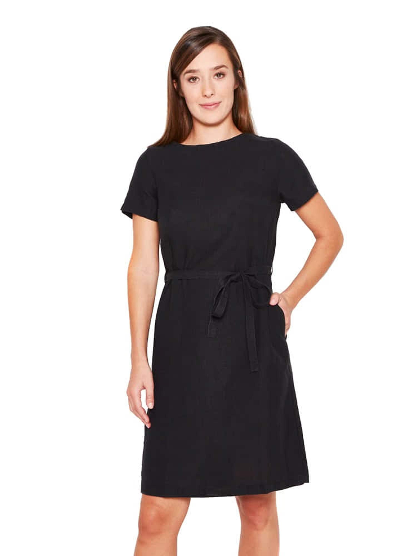 Etui-Kleid aus 100% Hanf