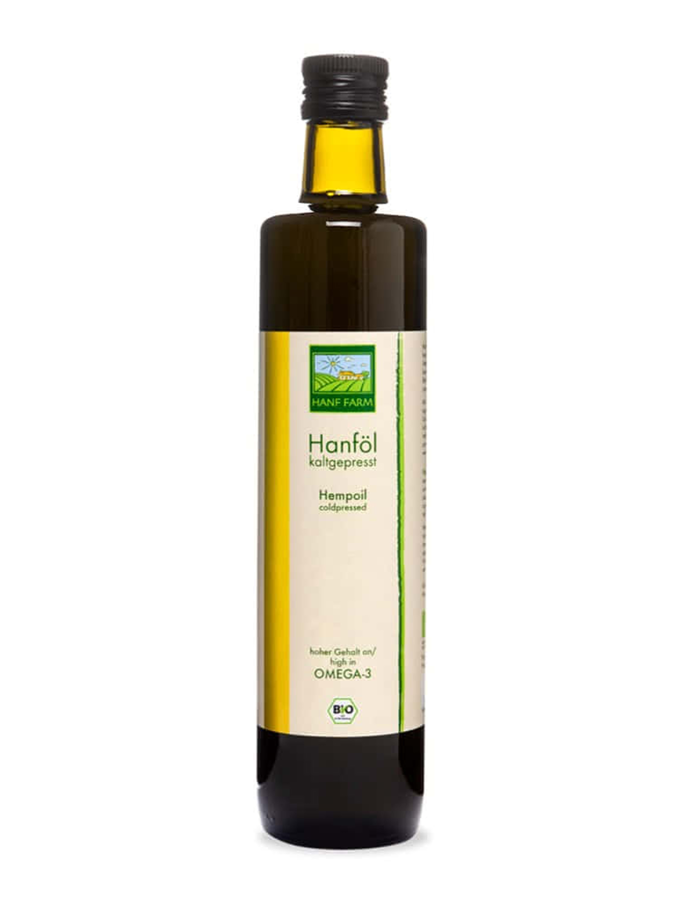 Organic hemp oil, cold-pressed 250 ml