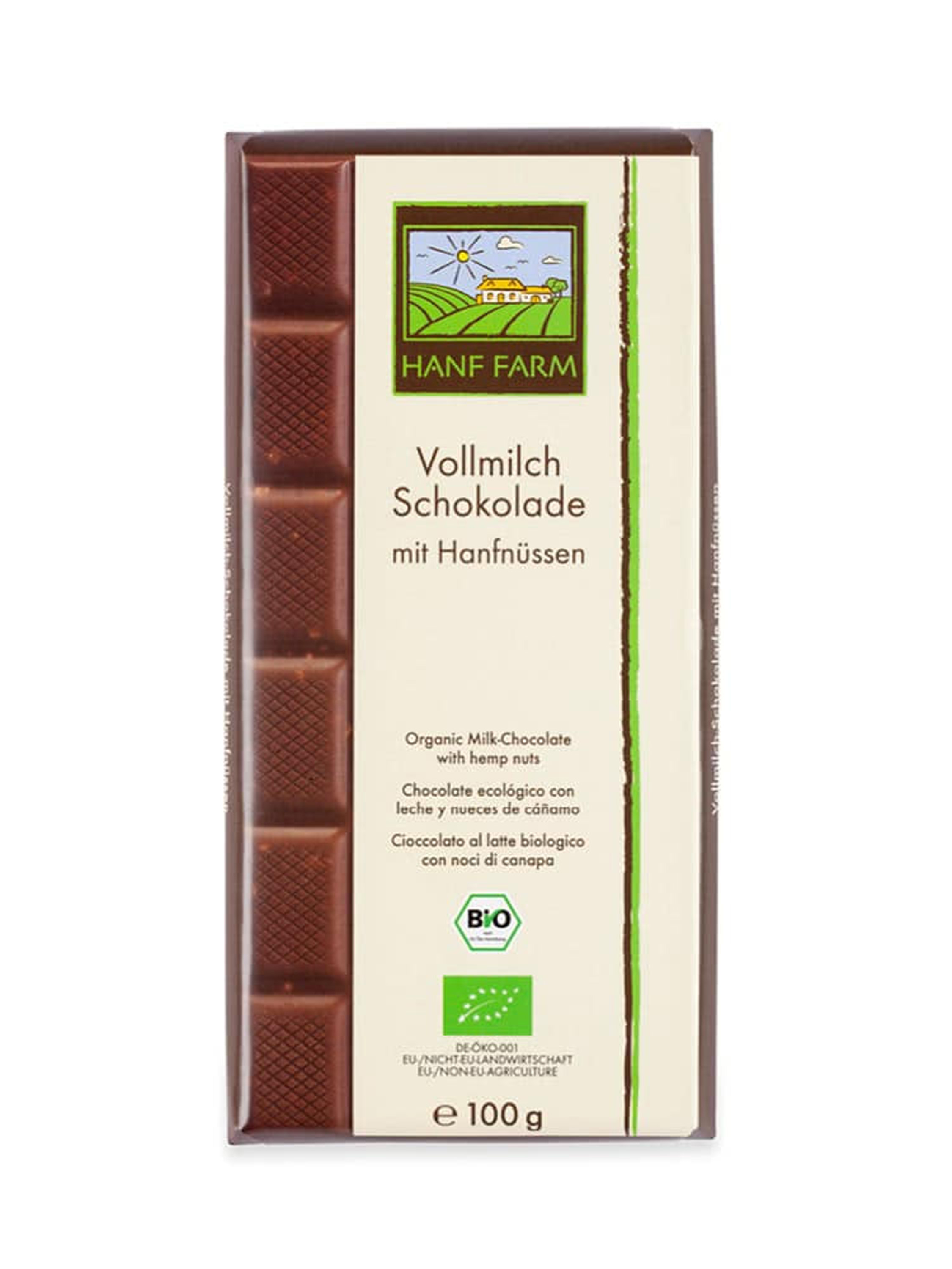 Organic Hemp Seed  Milk Chocolate 100 g