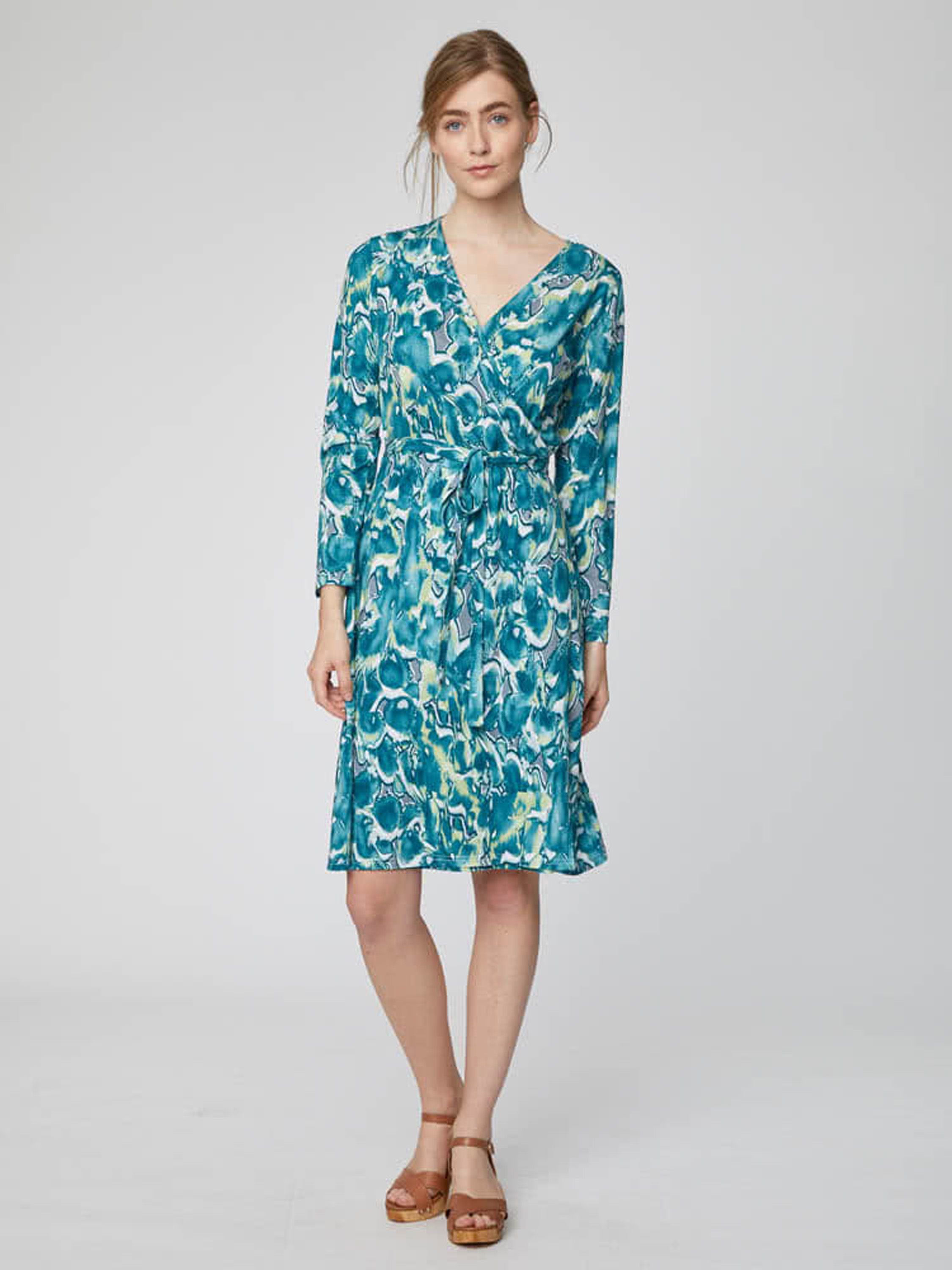 Emmeline Bamboo Jersey Wrap Dress