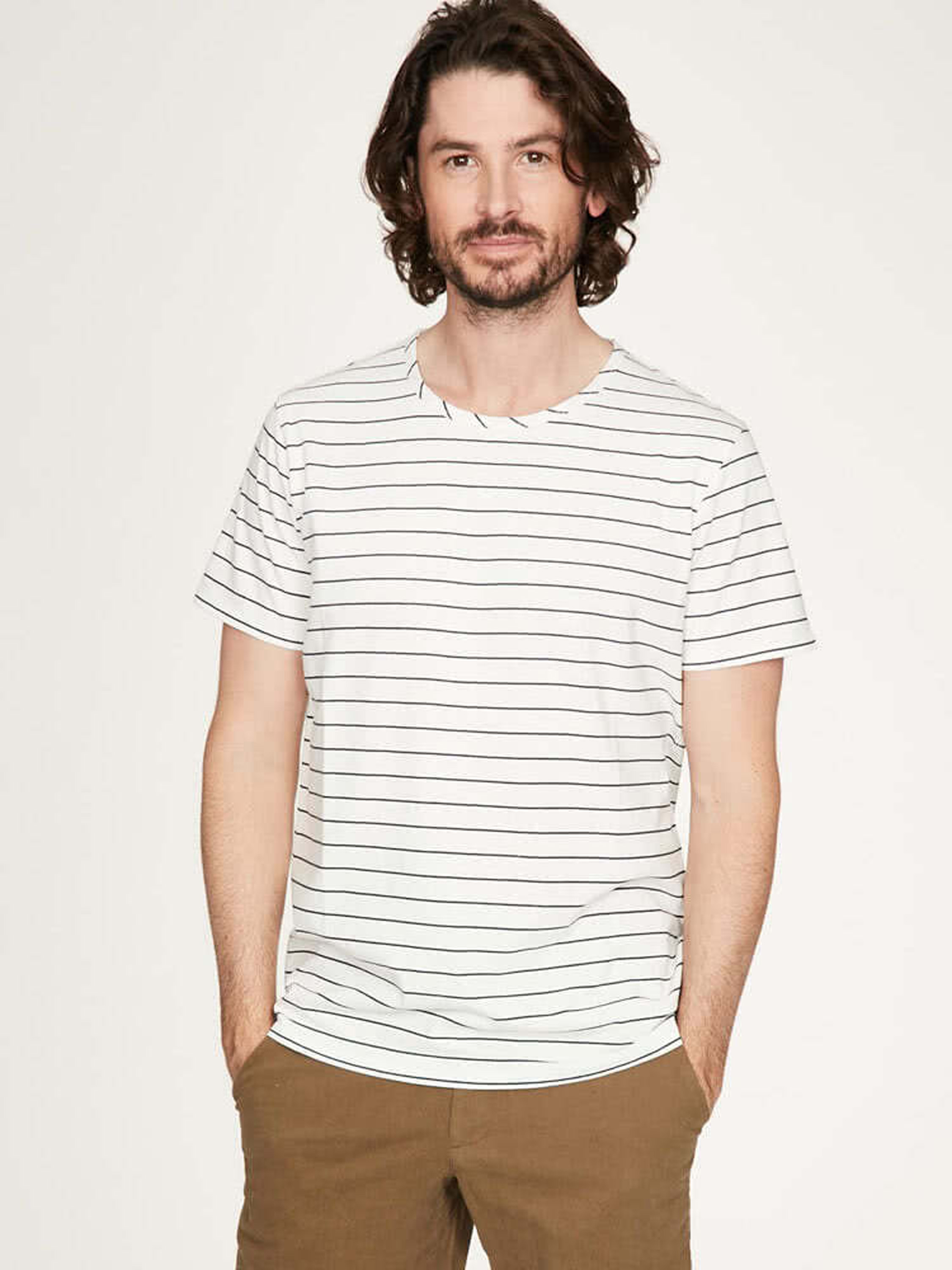 Jacopo Tee – in a striped look of organic cotton