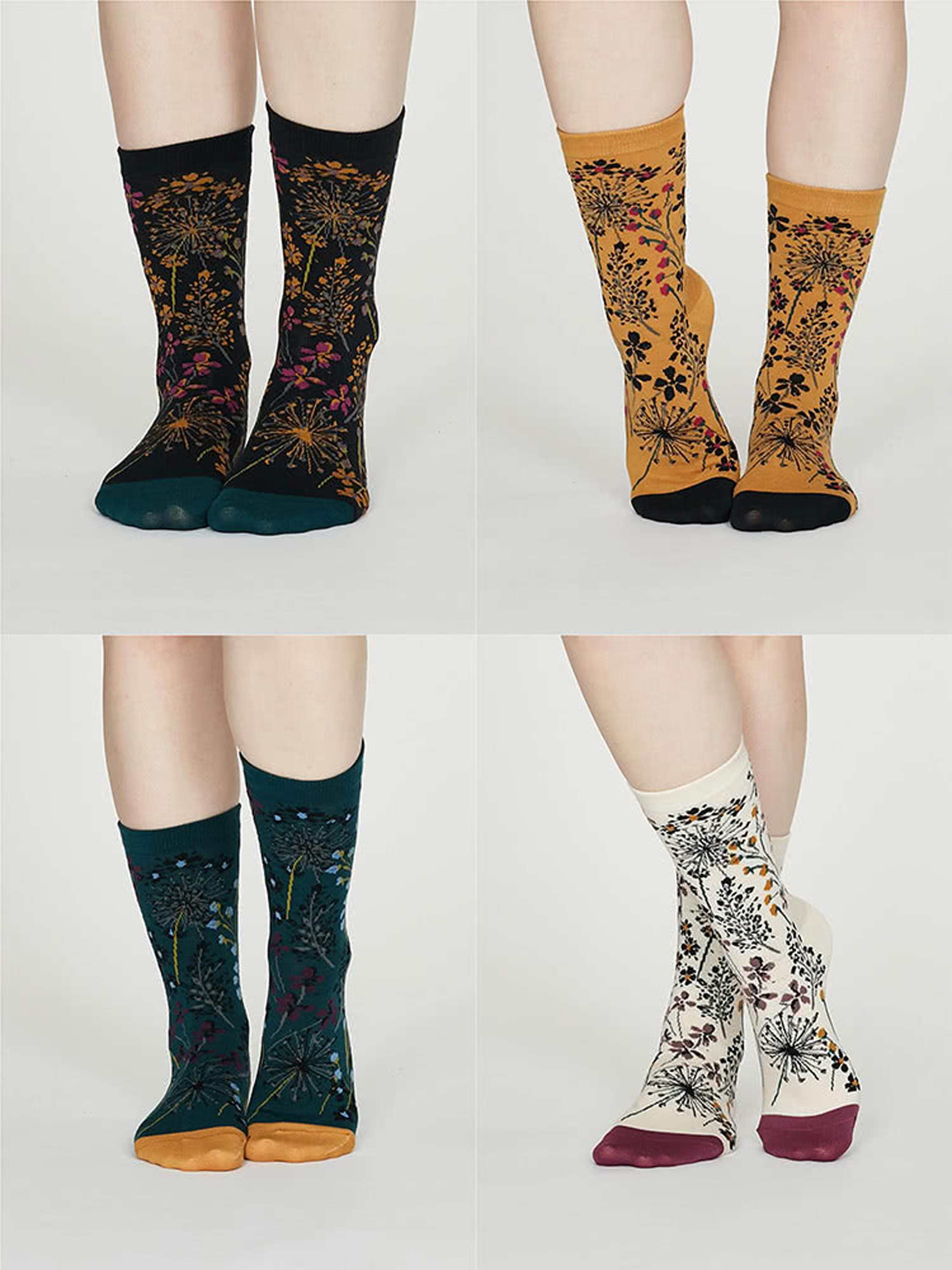 Amice Organic Cotton Floral Socks