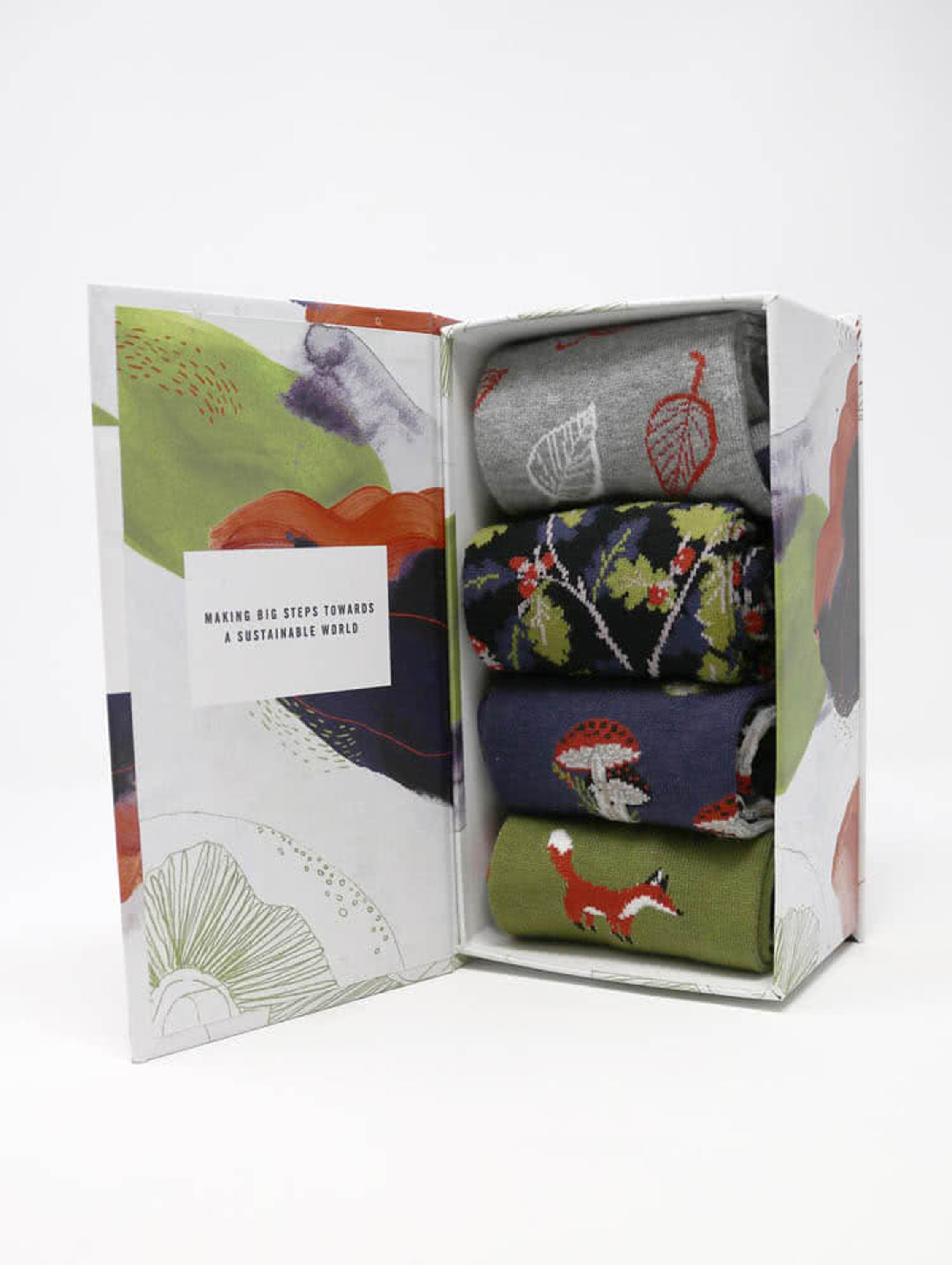 Wildwood Bamboo Forest Socks, Gift Box 4 pcs.