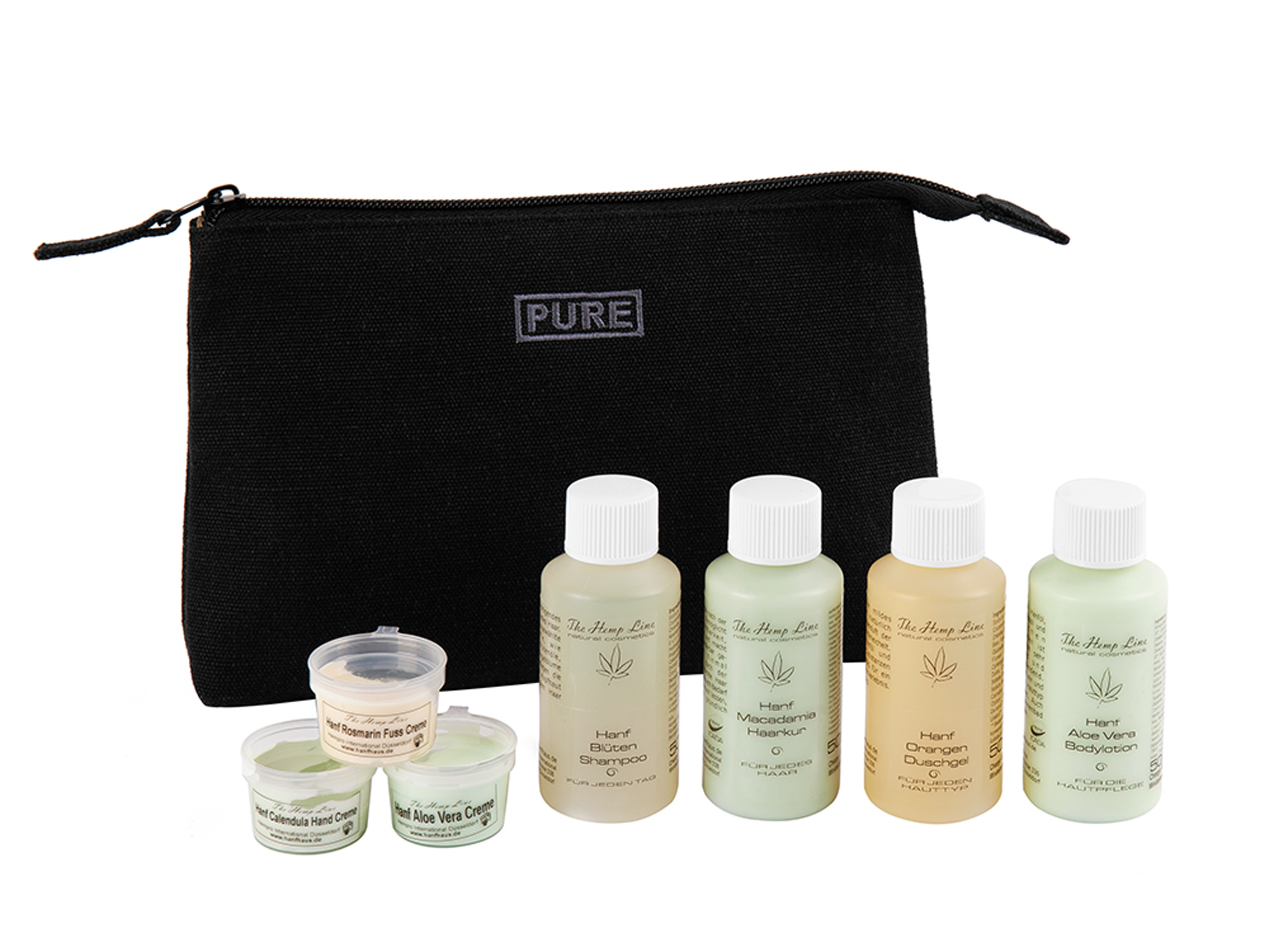 "<a href=""https://hanfhaus.de/en/the-hemp-line-giftset-hemp-mini-cosmetics-with-cosmetic-bag-p-63299100.html\"" itemprop=\""url\""><span itemprop=\""name\"">Giftset Hemp Mini Cosmetics with Cosmetic Bag</span></a><br /><small>[<span itemprop=\""model\"">63299100</span>]</small>"