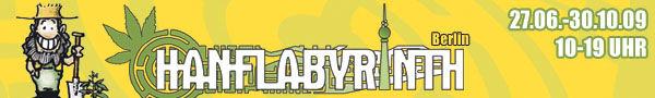 Logo des Hanflabyrinthes in Berlin
